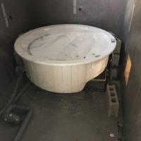 円形お風呂設置