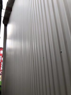 外部板金施工と柱交換